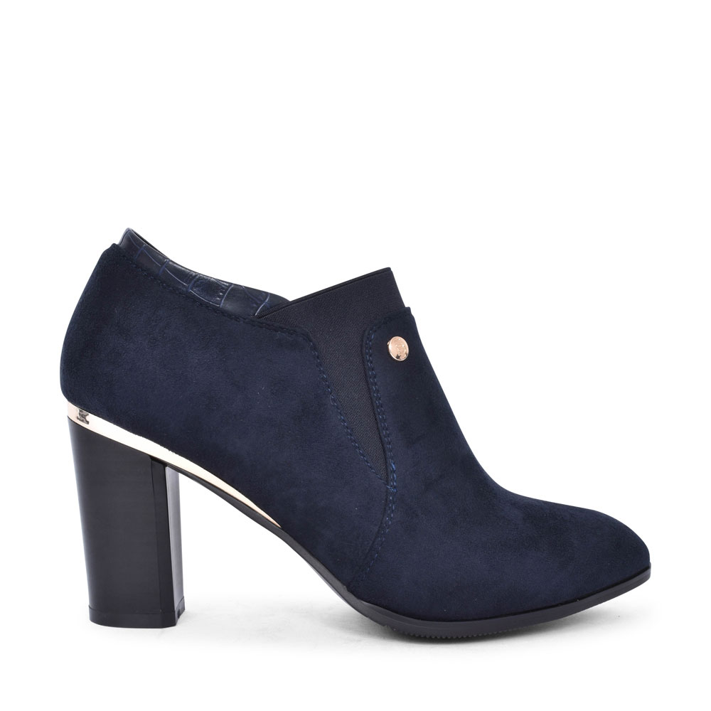 F276 HIGH HEEL LOW CUT ANKLE BOOT FOR LADIES in NAVY