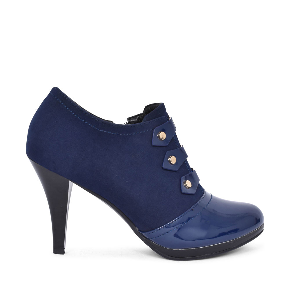 3379 HIGH HEEL LOW CUT ANKLE BOOT FOR LADIES in NAVY