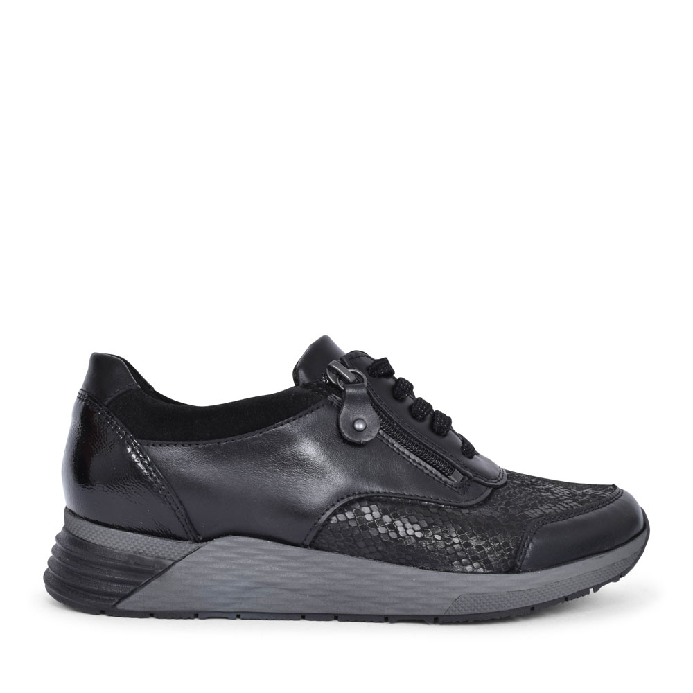 964H01 HALICE LACED TRAINER FOR LADIES in BLACK
