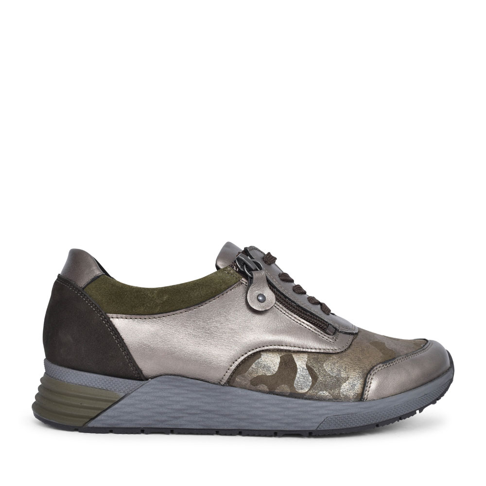 964H01 HALICE LACED TRAINER FOR LADIES in KHAKI