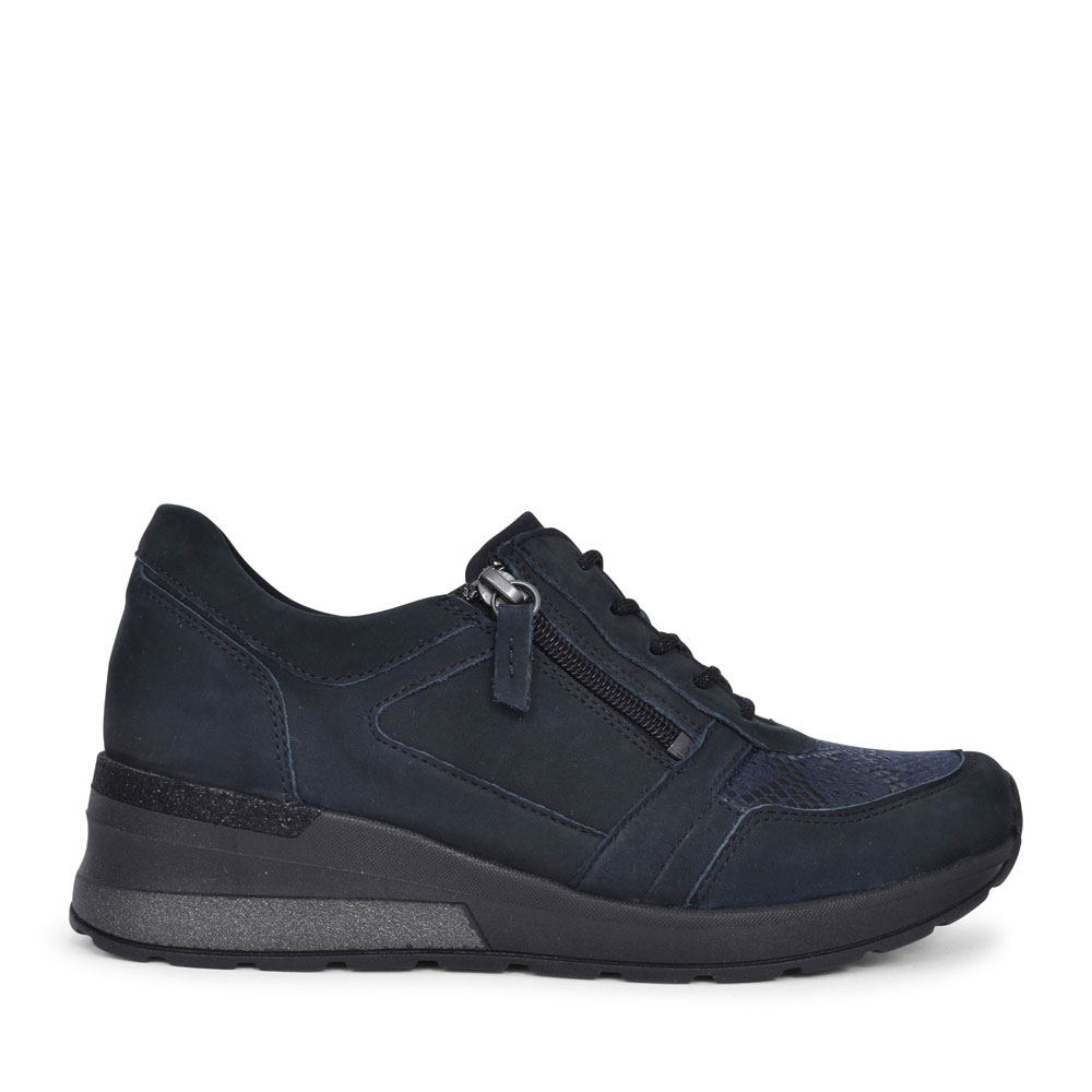 939H01 H-CLARA LACED TRAINER FOR LADIES in NAVY