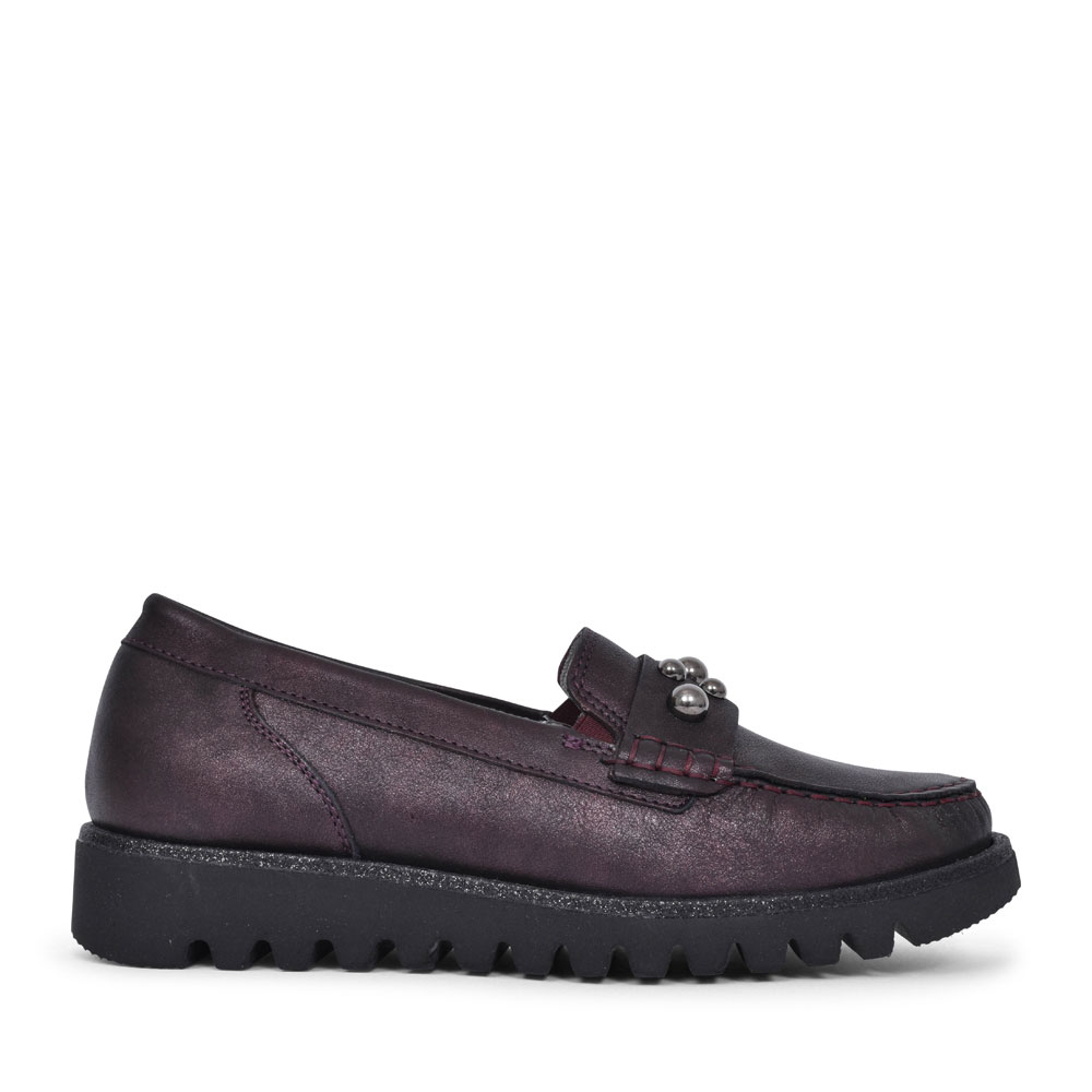 926507 HABEA BEADED MOCCASIN FOR LADIES in BURGANDY
