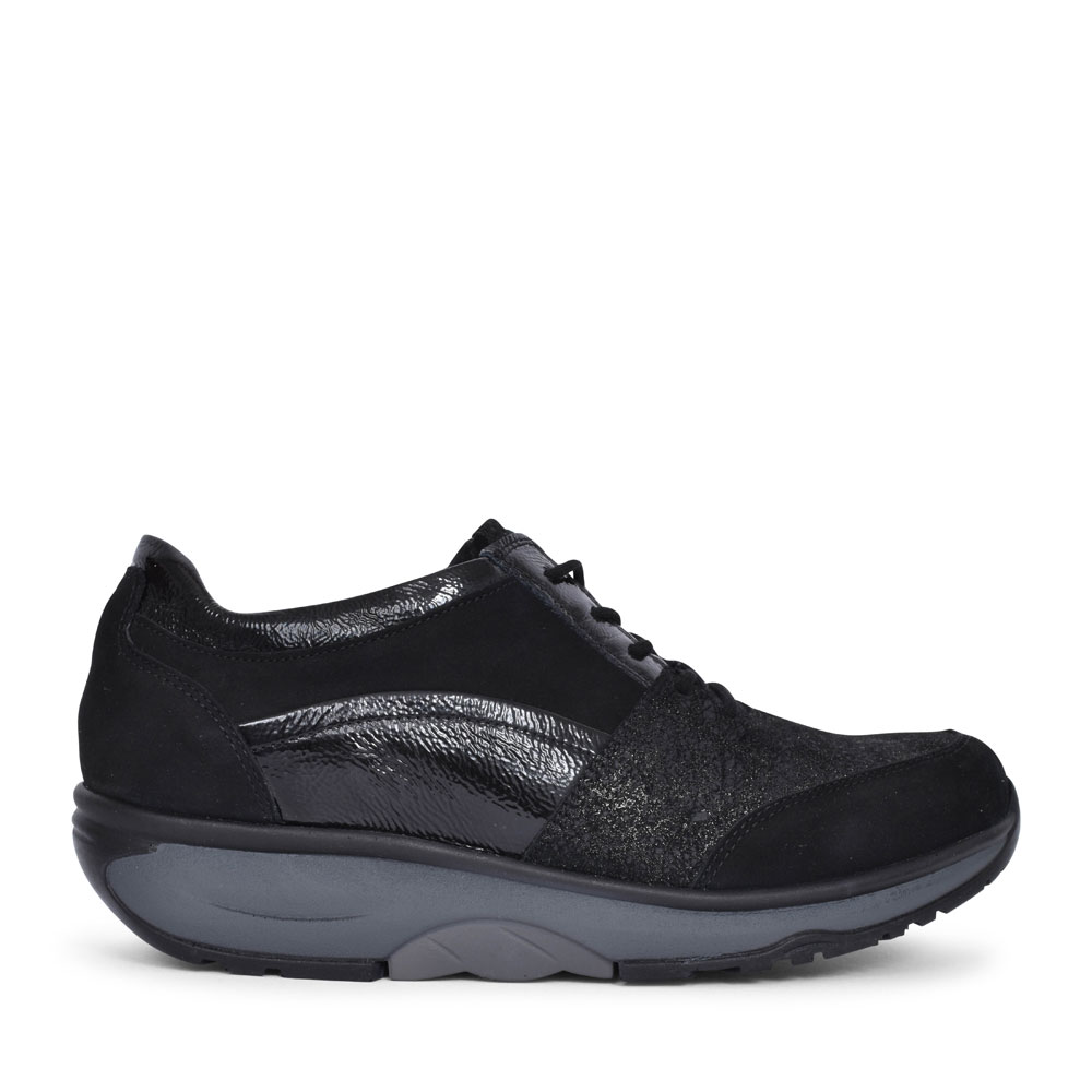 999001 H-SONJA LACED TRAINER FOR LADIES in BLACK