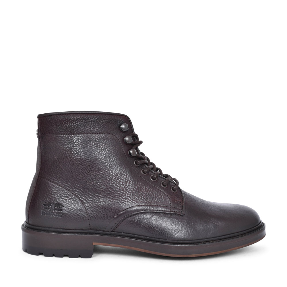 MFO0457 SEABURN CASUAL LACED ANKLE BOOT FOR MEN in DARK BROWN