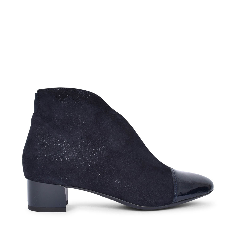 12-16605 VICENZA LOW HEEL PATENT TOE ANKLE BOOT FOR LADIES in BLUE