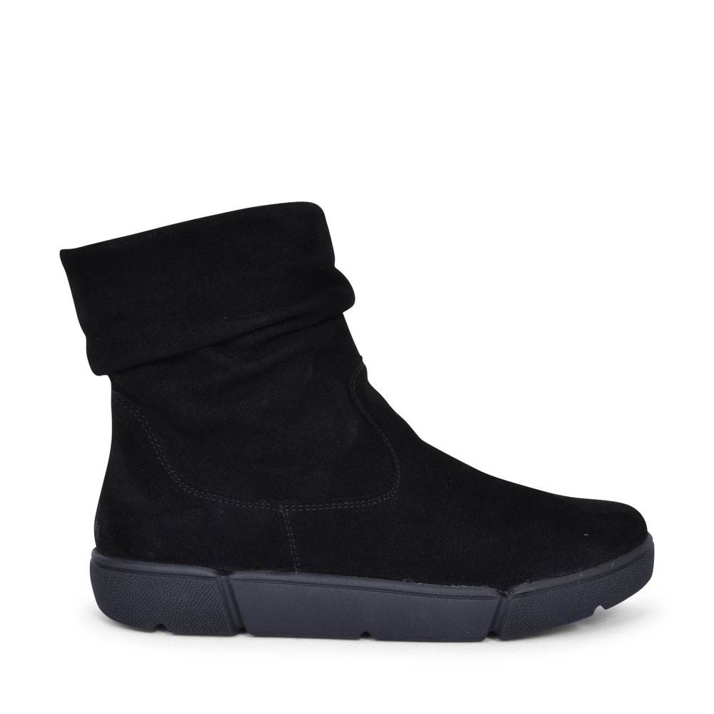 12-14437 ROM CASUAL ANKLE BOOT FOR LADIES in BLACK