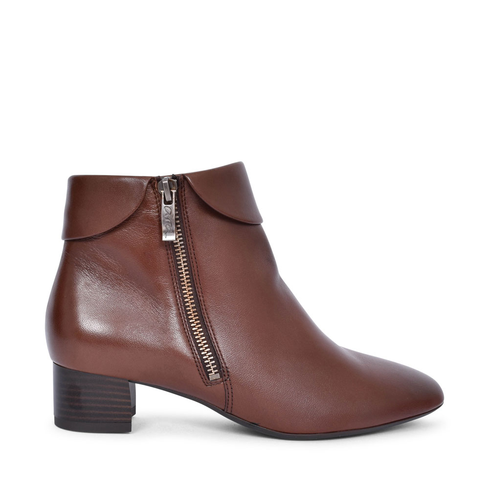 12-16609 VICENZA LOW HEEL ANKLE BOOT FOR LADIES in BROWN