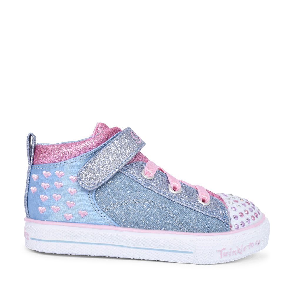 20085N SHUFFLE LITE MID TOP ANKLE BOOT FOR GIRLS in DENIM