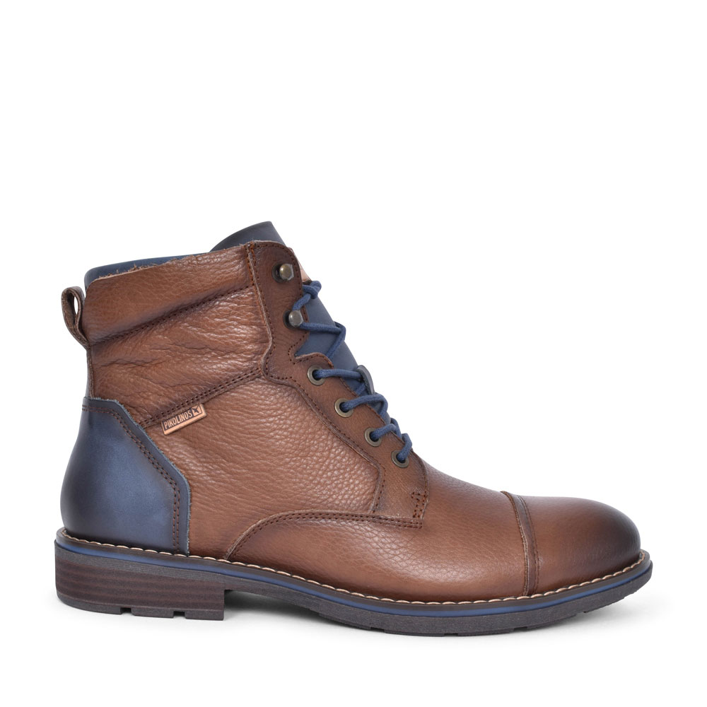 YORK M2M-8170NG LACED ANKLE BOOT FOR MEN in BROWN