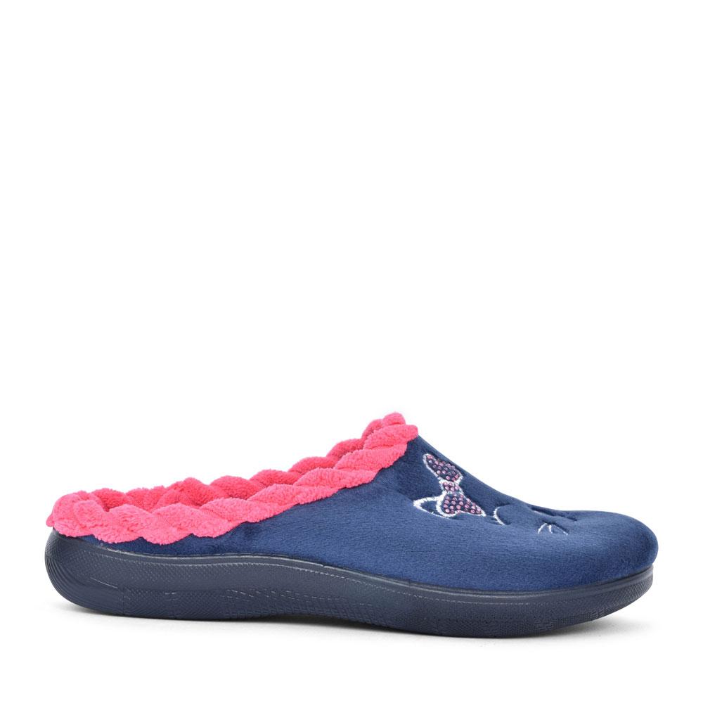 EC00045 CAT MULE SLIPPER FOR LADIES in BLUE