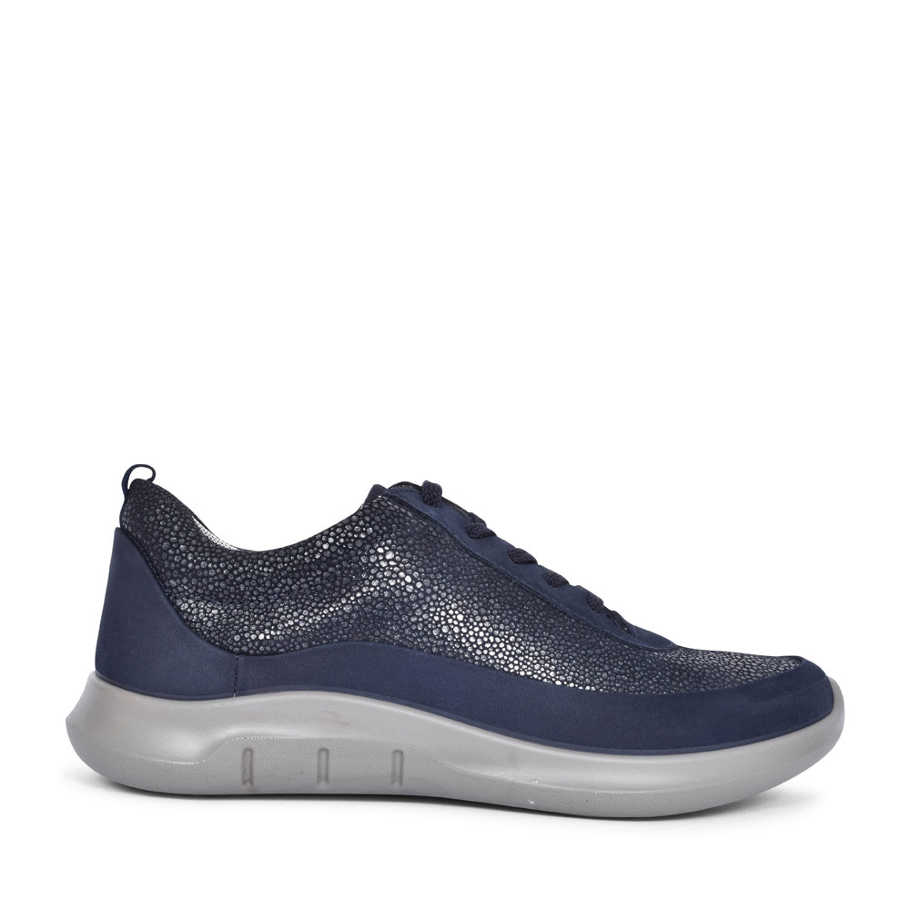 STAR SUEDE NUBUCK LACE UP TRAINER FOR LADIES in NAVY