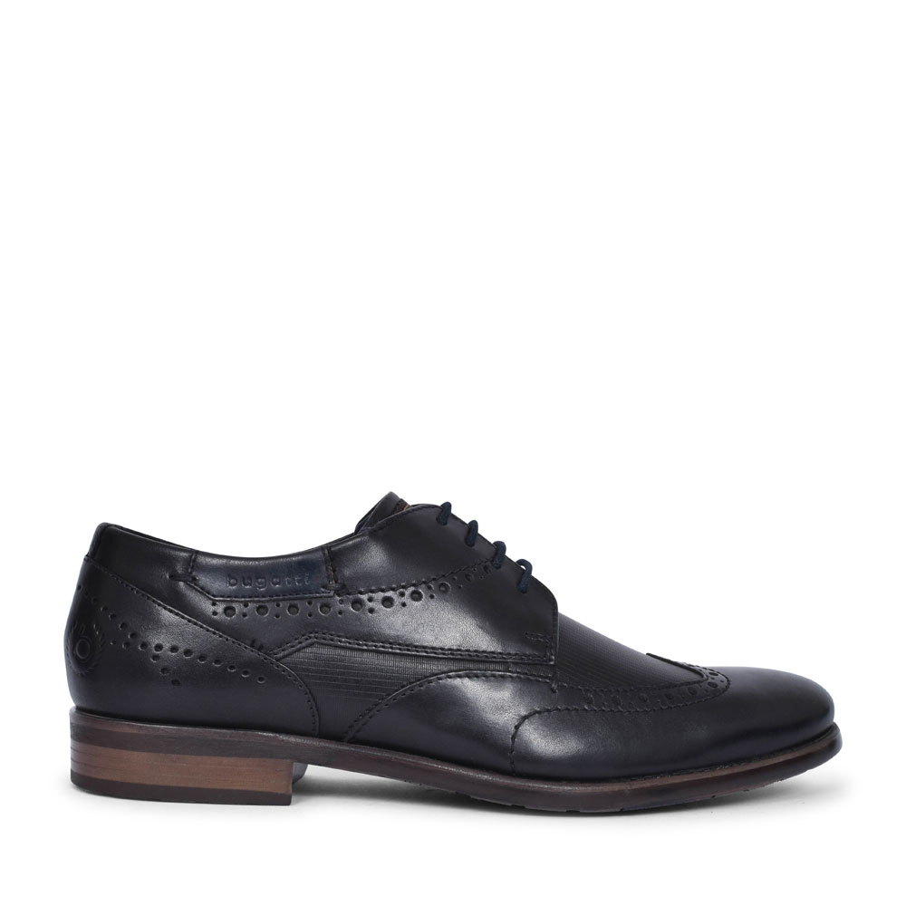 16305 LACED BROGUE SHOE FOR MEN in BLACK