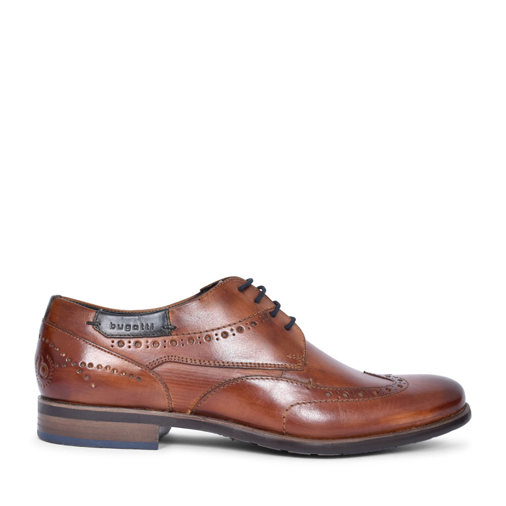 16305 LACED BROGUE SHOE FOR MEN in TAN