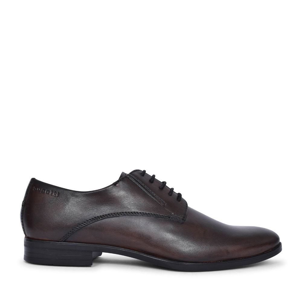 44606 CASUAL LACED SHOE FOR MEN in DARK BROWN