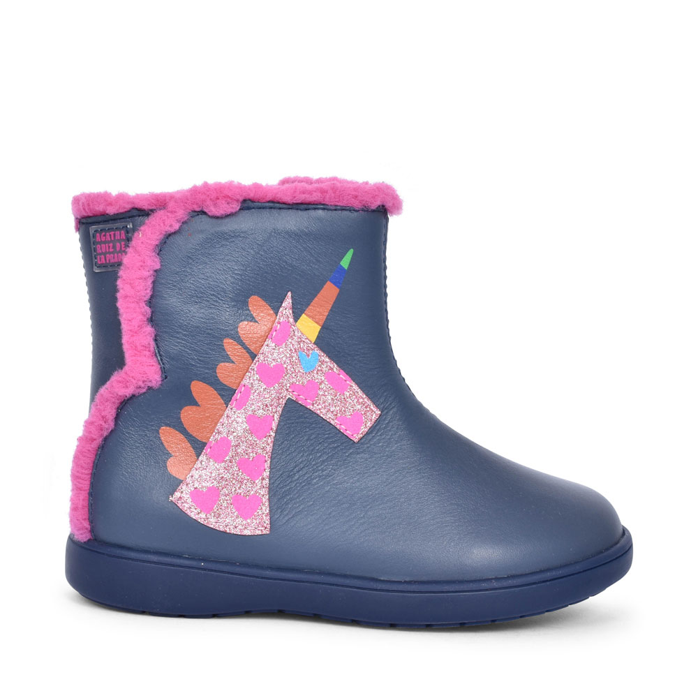 191934 UNICORN ANKLE BOOT FOR GIRLS in NAVY