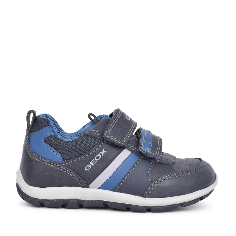 BOYS B9432D SHAAX VELCRO SHOE  in NAVY