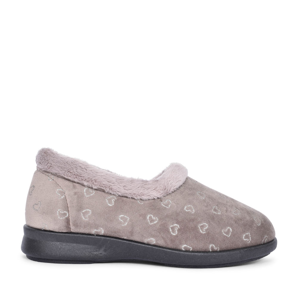 DUDLEY EXTRA WIDE 2V SLIPPER FOR LADIES in TAUPE