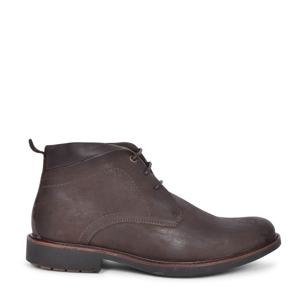 909077 AFONSO CASUAL LACED ANKLE BOOT FOR MEN in DARK BROWN