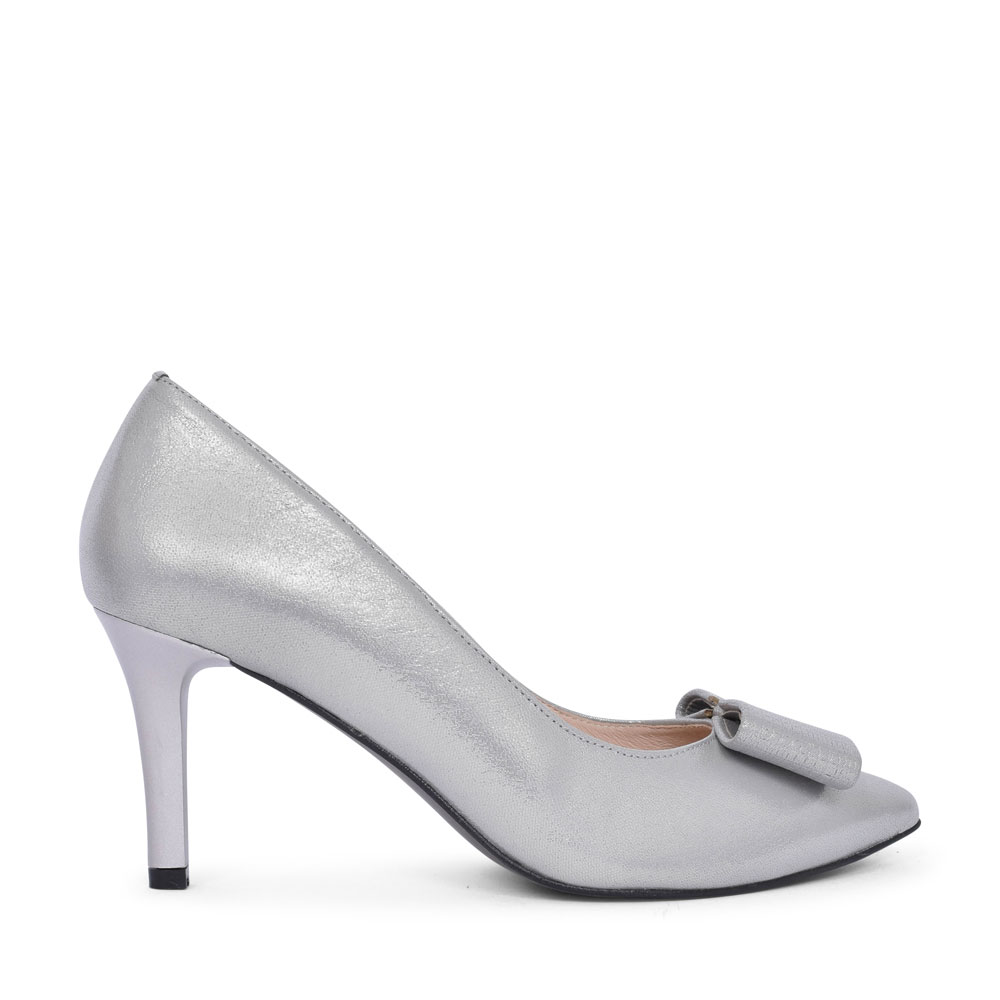 7411 HIGH HEEL COURT SHOE FOR LADIES in SILVER