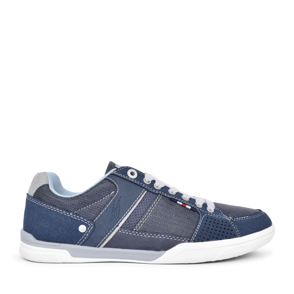 ADDISON CASUAL LACED TRAINER FOR MEN in BLUE