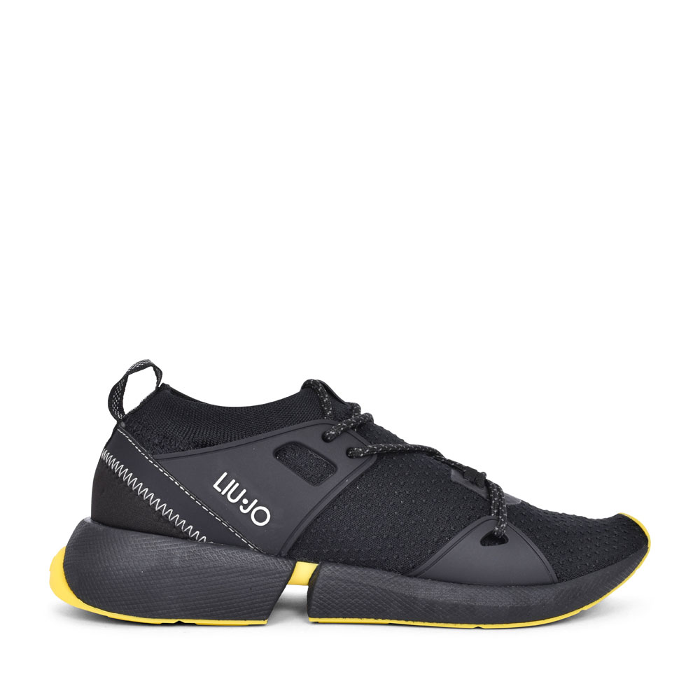 YULIA CASUAL LACED TRAINER FOR LADIES in BLACK