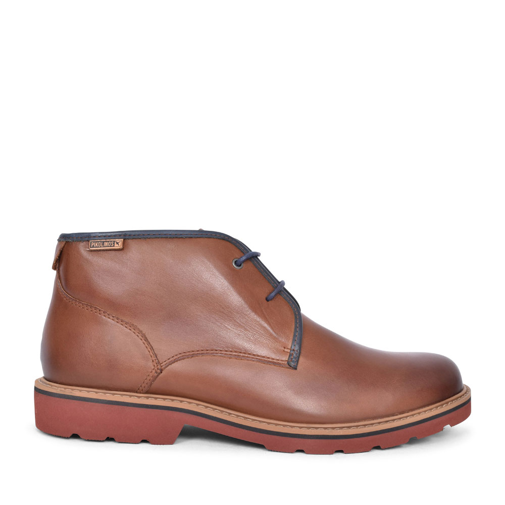 BILBAO M6E-8320 LACED ANKLE BOOT FOR MEN in BROWN