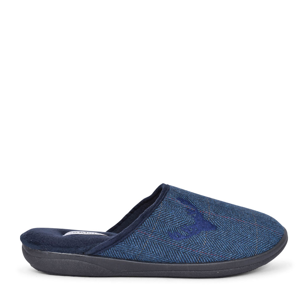 STAG WIDE FIT STAG MULE SLIPPER FOR MEN in NAVY