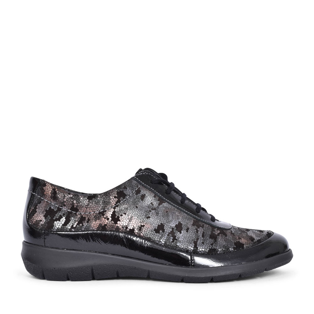 LIBBY CASUAL LACED TRAINER FOR LADIES in BLACK