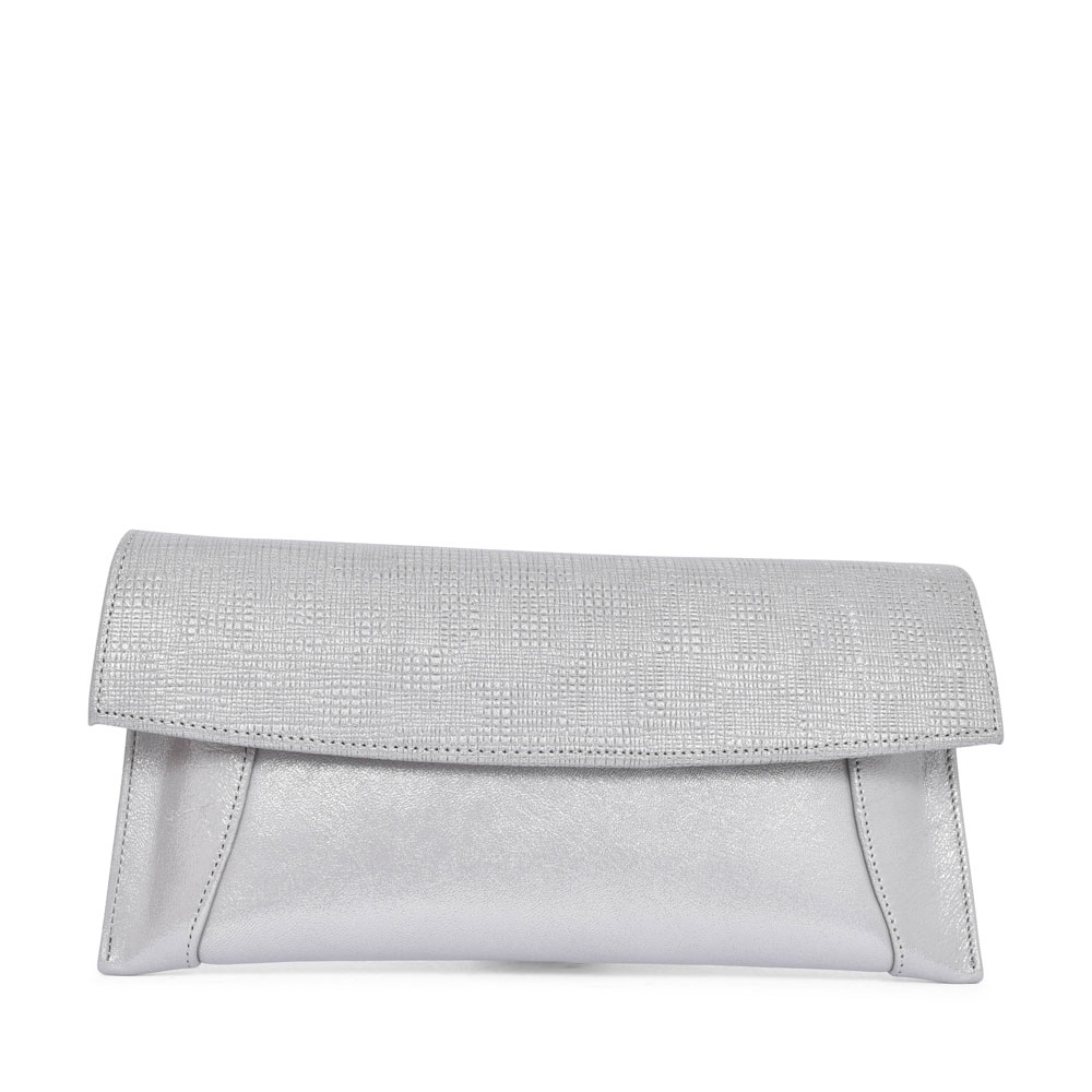 7411 CLUTCH BAG FOR LADIES in SILVER