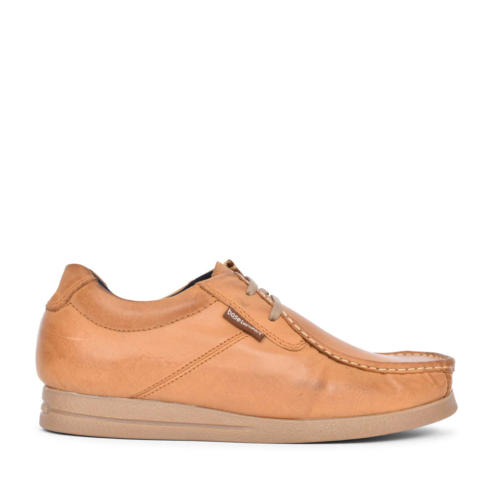 EVENT CASUAL LACED MOCCASIN SHOE FOR MEN in TAN