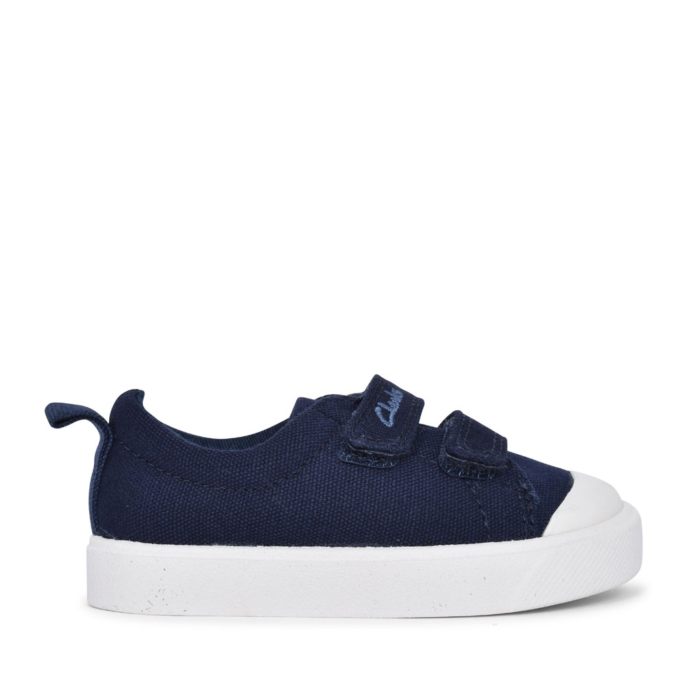 CITY BRIGHT NAVY CANVAS VELCRO SHOE FOR BOYS in KIDS F FIT