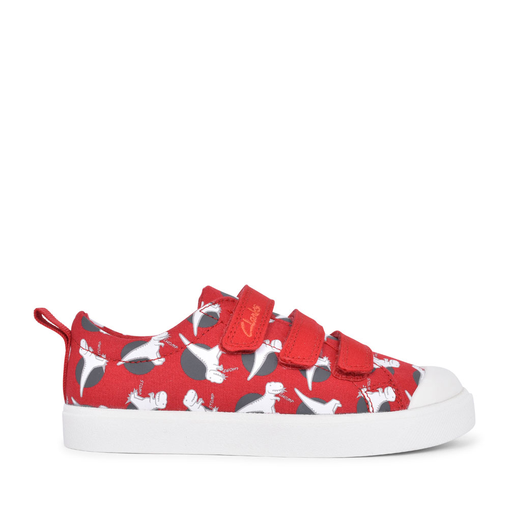 BOYS CITY VIBE RED INTEREST CANVAS VELCRO SHOE  in KIDS G FIT
