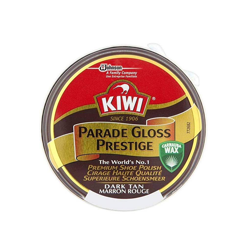 PARADE GLOSS SHOE POLISH TIN FOR LEATHER SHOES 50ML in DARK TAN