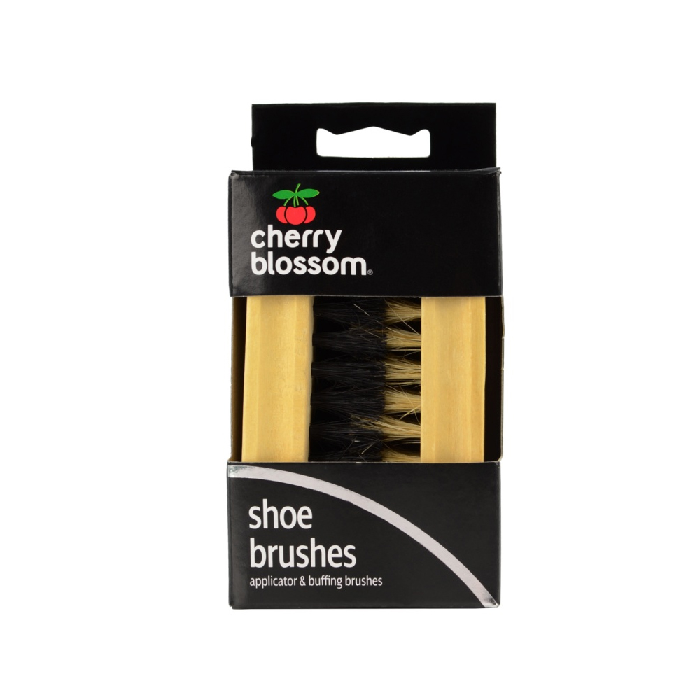 CHERRY BLOSSOM APPLICATOR & BUFFING BRUSH SET FOR SHOES
