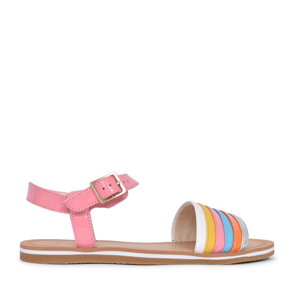 FINCH STRIDE MULTICOLOUR LEATHER SANDAL FOR GIRLS in KIDS F FIT