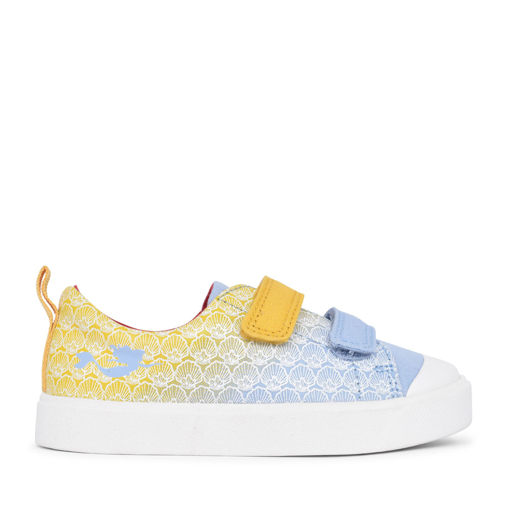 GIRLS CITY SHELL YELLOW INTEREST CANVAS VELCRO SHOE in KIDS F FIT