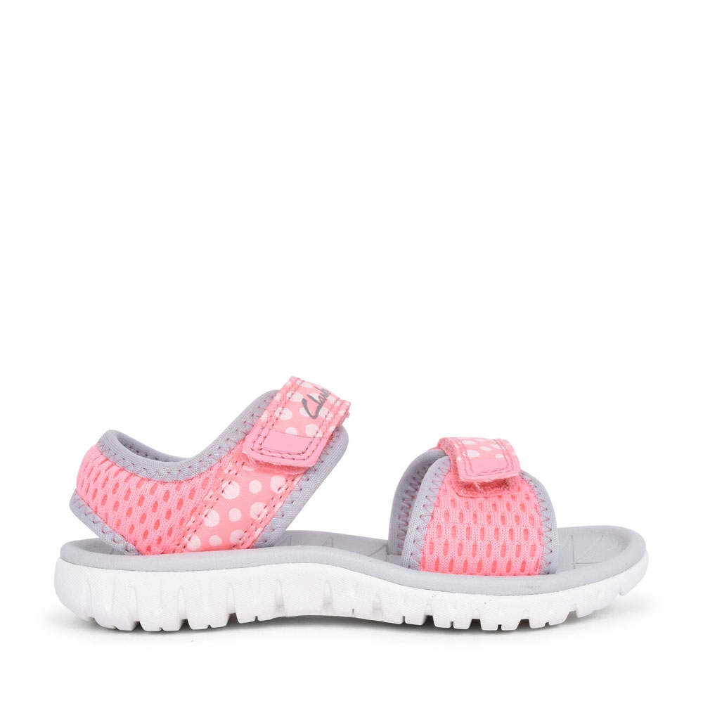 GIRLS SURFING TIDE PINK COMBI TEXTILE SANDAL in KIDS F FIT