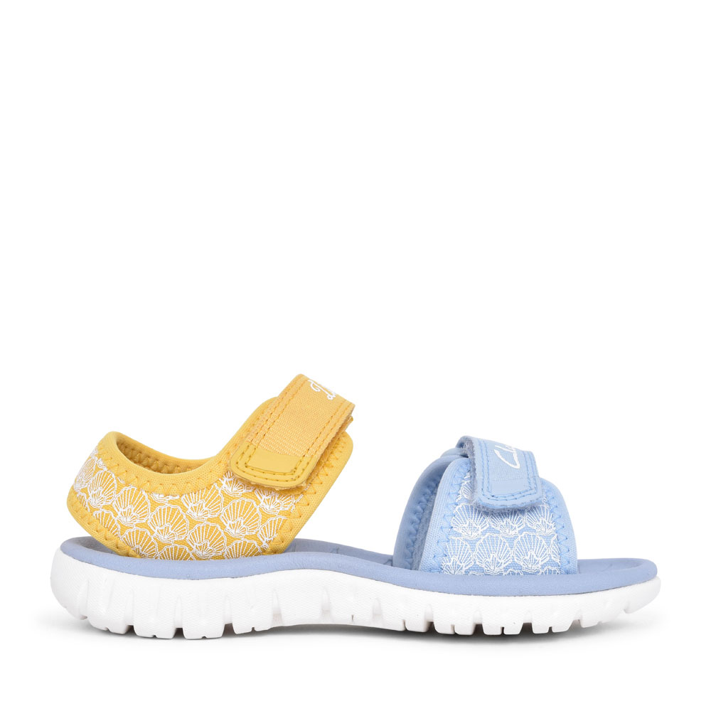GIRLS SURFING SEA YELLOW INTEREST TEXTILE SANDAL in KIDS F FIT