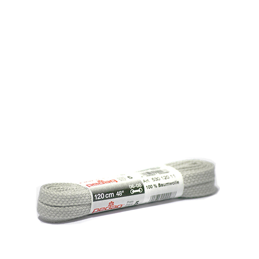 PEDAG FLAT LACES 90CM in LIGHT GREY