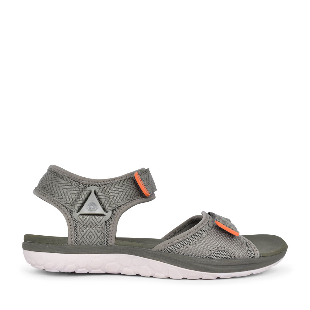 STEP BEAT SUN TEXTILE G FIT VELCRO SANDAL FOR MEN in OLIVE