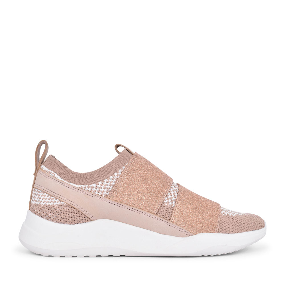 SIFT SLIP TEXTILE D FIT SLIP ON TRAINER FOR LADIES in PINK