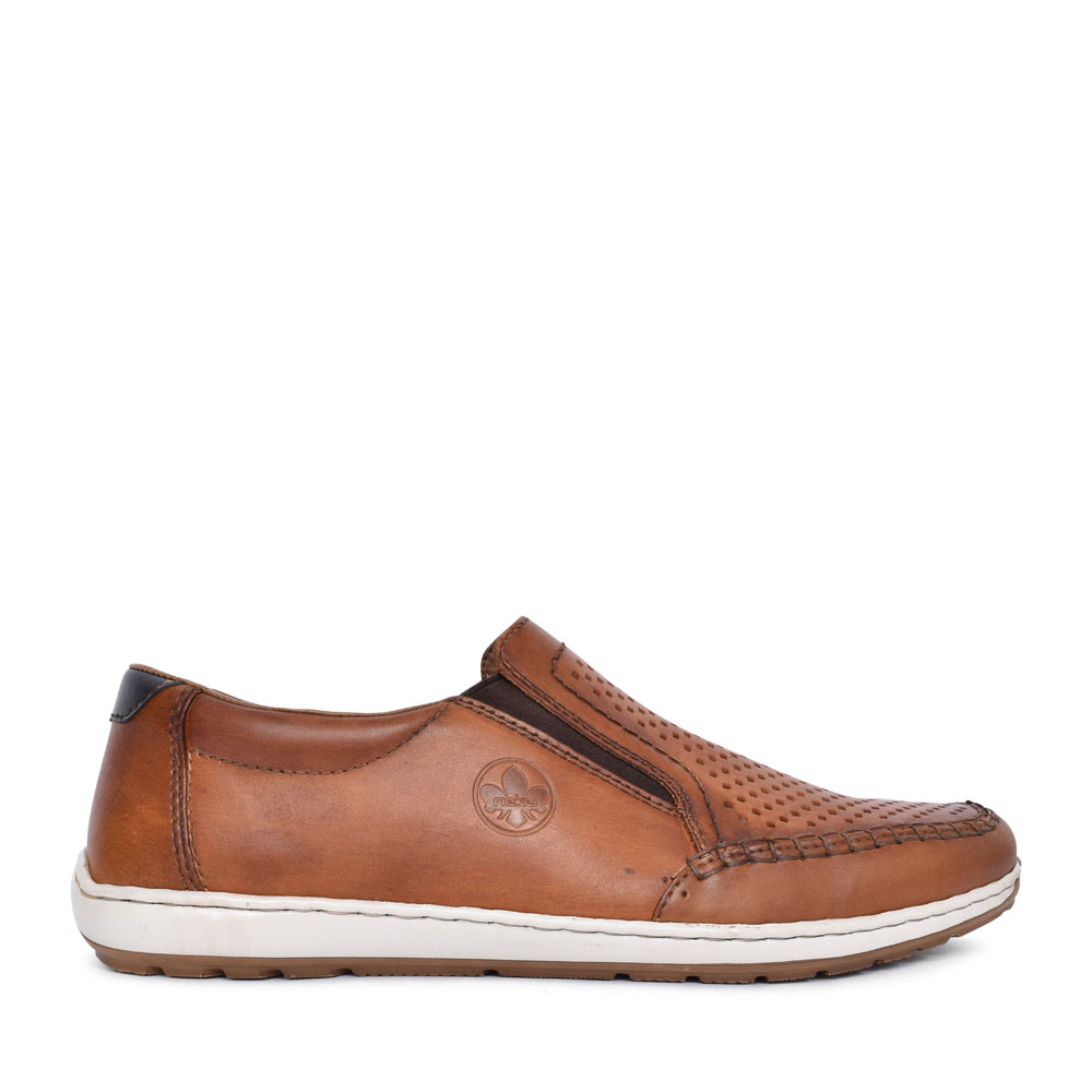 MEN'S 08868 PERFORATED SLIP ON SHOE in TAN