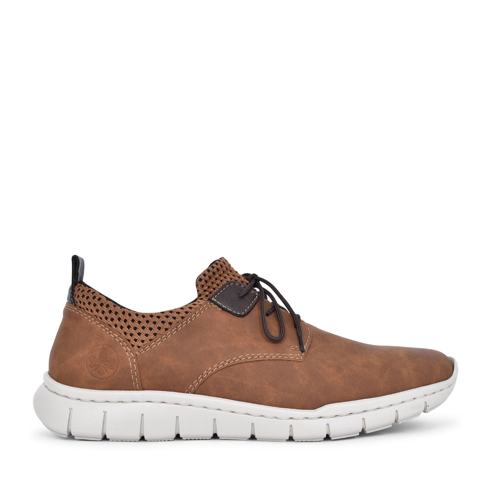 MEN'S B8753 LACED TRAINER in BROWN