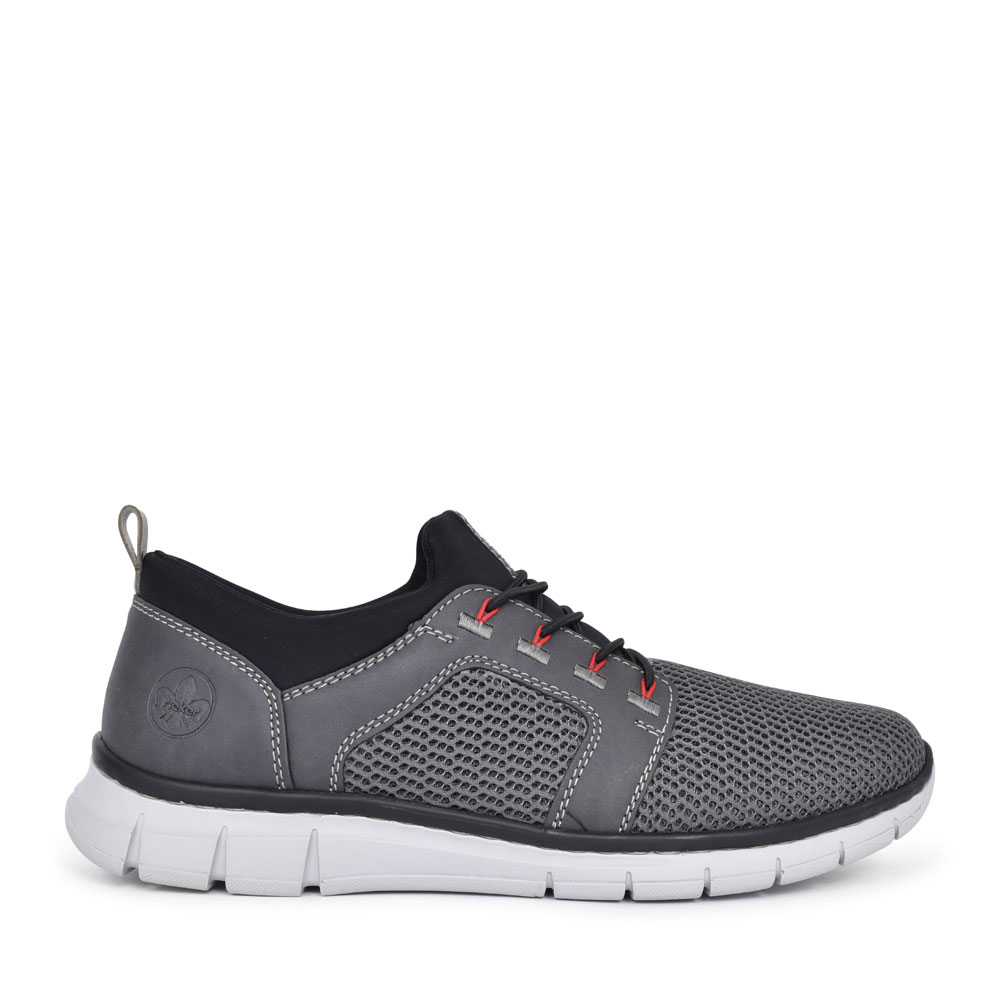 MEN'S B7786 LACED TRAINER in GREY