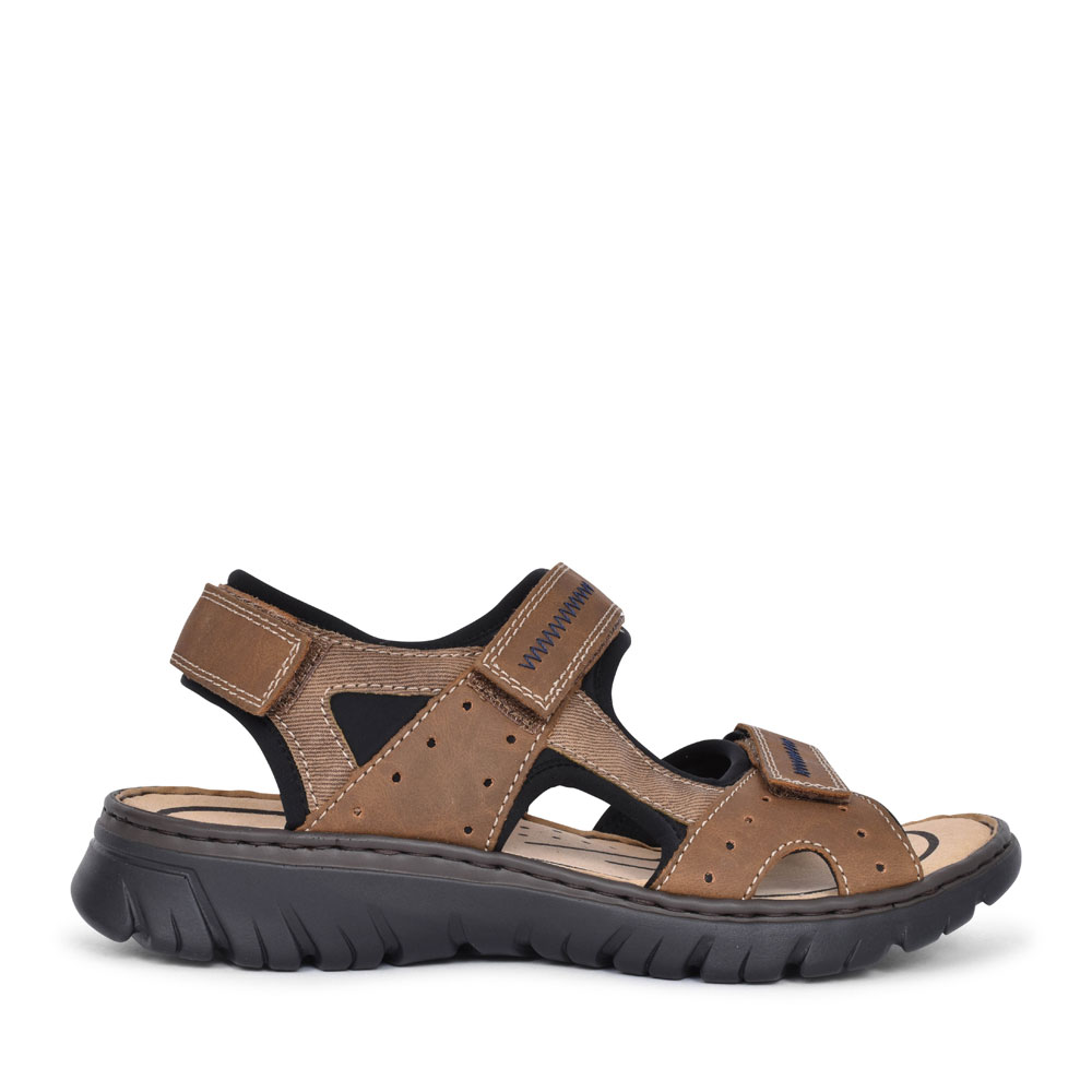 MEN'S 26757 VELCRO WALKING SANDAL in BROWN