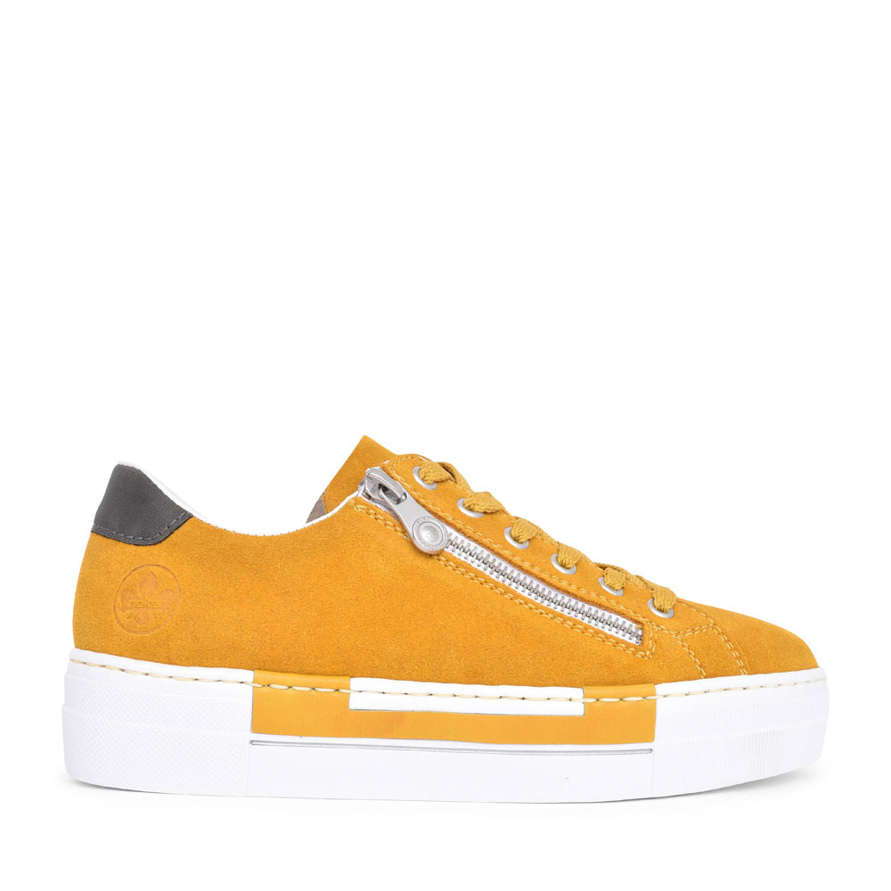 N4921 CASUAL LACED TRAINER FOR LADIES in MUSTARD