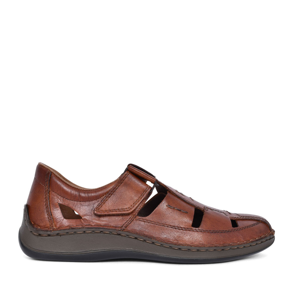 MEN'S 05284 CUT OUT SLIP ON SHOE in BROWN
