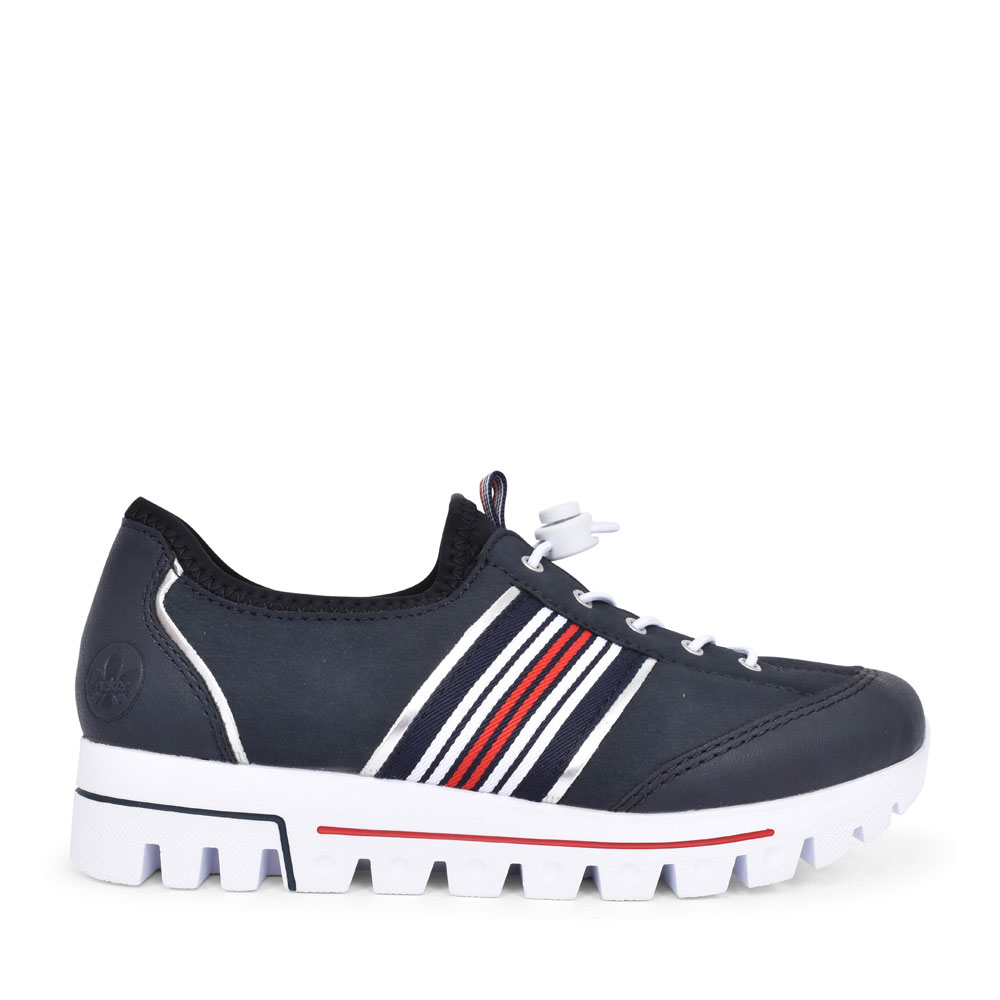 L2860 CASUAL ELASTICATED SLIP ON SHOE FOR LADIES in NAVY