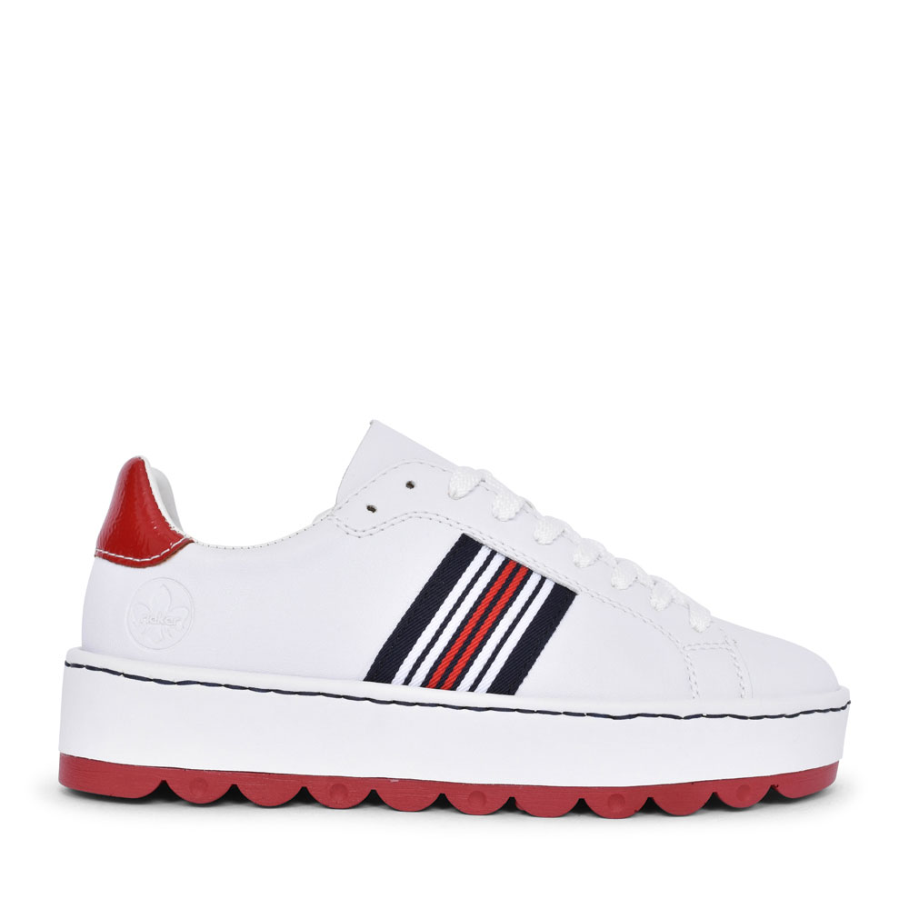 N4622 CASUAL LACED TRAINER FOR LADIES in WHITE