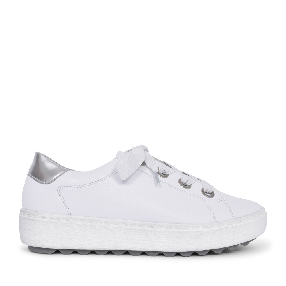 D1002 LACED TRAINER FOR LADIES in WHITE